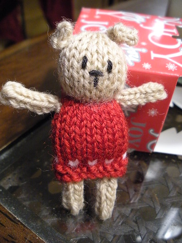 little bear red dress