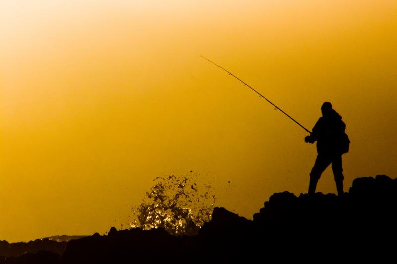 Pêcheur au couchant
