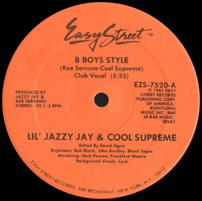 Lil' Jazzy jay & Cool Supreme - B Boys Style
