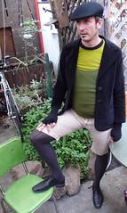Jasper in equestrian drag: Badlands part IV (Jasper Gregory) Tags: sanfrancisco california street new city portrait people urban usa cute sexy men beauty fashion fun photography photo model san francisco pretty tights crossdressing transgender queer 2008 genderqueer november2008 jaspergregory