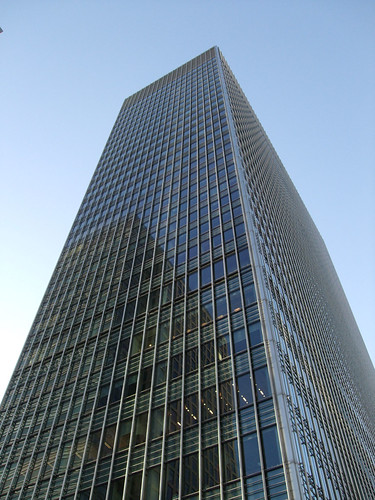 Lehman Brothers European HQ,Canary Wharf, London.