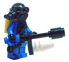 The Pyro (Hobo Sapien) Tags: lego mask custom flamethrower pyro firefirefire tf2 brickarms