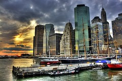 Urban Jungle (DP|Photography) Tags: sunset newyork skyscrapers southstreetseaport eastriver urbanjungle lowermanhattan pier17 downtownmanhattan debashispradhan dpphotography dp|photography