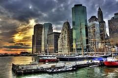 Urban Jungle (DP|Photography) Tags: sunset newyork skyscrapers southstreetseaport eastriver urbanjungle lowermanhattan pier17 downtownmanhattan debashispradhan dpphotography dp|photography