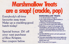 Bars - Marshmallow Treats LS0001 (Eudaemonius) Tags: classic vintage recipe bars treats marshmallow recipes eudaemonius bluemarblebountycom 20081211 ls0001