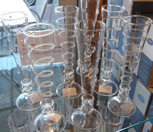 Champagne Glasses/Bud Vases at Gourmet Shop.