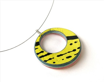 skateboard necklace