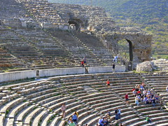 The Theatre at Ephesus (rougetete) Tags: turkey greek ancient roman civilization christianity ancientcivilization ephesus efes libraryofcelsus