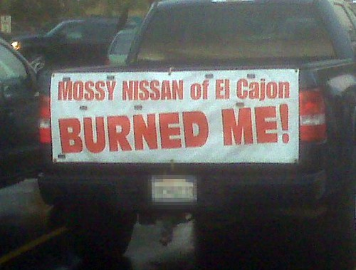 Mossy Nissan of El Cajon BURNED ME!