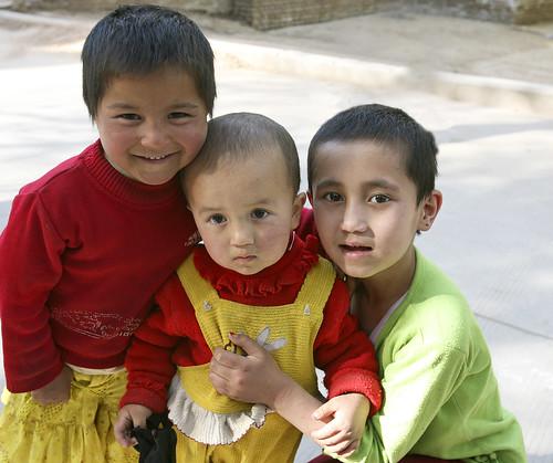 Uigher Children, Kashgar, Xinjiang Province