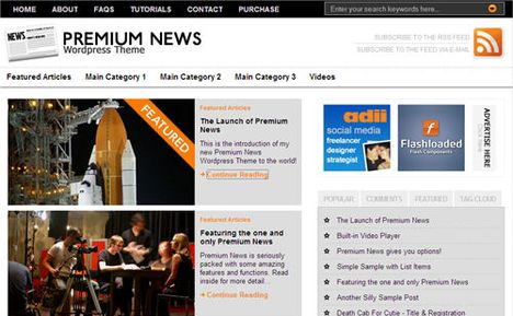 Premium News Theme