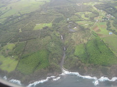 Big Island waterfalls from the plane