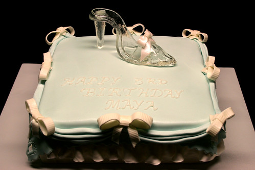 Cinderella Glass Slipper Birthday Cake