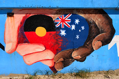 Forster Main Beach - Reconciliation Mural (Black Diamond Images) Tags: beach sorry painting australia greatlakes nsw beaches reconciliation forster indigenous australianbeach bdi midnorthcoast australianbeaches beachaustralia blackdiamondimages reconciliationaustralia forstermainbeach reconciliationmural