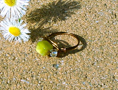 Simple Summer Honey Cubic Ring - 8mm Olive Jade SIZE 6 (JustinGeer) Tags: summer green yellow stone bronze square olive jewelry ring clear jade cube copper simple
