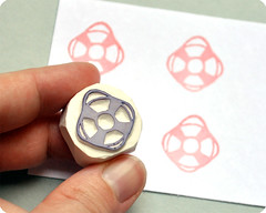 Lifebuoy hand carved rubber stamp