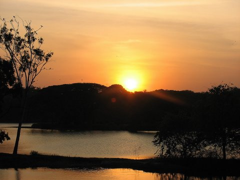 Sunset over Lalbagh lake