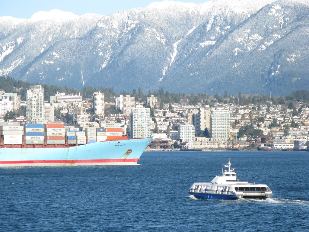 Seabus approaching North Vancouver