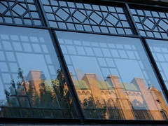 Hyde Park reflections (StGrundy) Tags: blue usa brown chicago black building green window architecture reflections illinois sony details architectural hydepark dsch2 artistsoftheyear