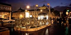 Paris - Station Rome (VeNiVi) Tags: light paris night darkroom photoshop subway lumire mtro nuit retouching retouche stationrome mtrorome