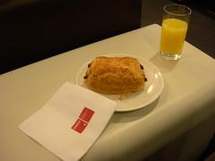 Croissant at Swiss Air Lounge, Geneva
