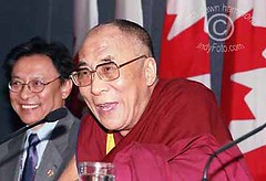 His Holiness the Dalai Lama in Canada (DawnOne) Tags: china copyright 2004 dawn freedom peace free buddhism tibet linda his lama tibetan hammond protesters dalai holiness autonomy dawnone indyfoto
