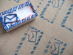 - Mail Time - (Warm 'n Fuzzy) Tags: carved mail handmade craft carving stamp envelope carvedstamp handmadestamp