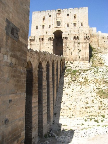 Bridge to the citadel, Aleppo