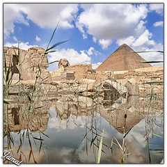 1000 B.C. (Jamal Alayoubi) Tags: africa old blue sky cloud water ancient nikon pyramid 14 egypt east arab 24 ksc middle nikkor d3 jamal ferro pharo alayoubi