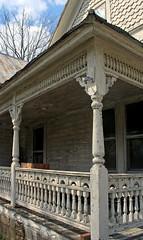 Burfordville Abandoned (Serrator) Tags: abandoned home rural decay missouri porch column railing