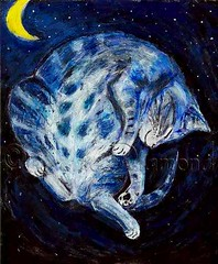 """The Sleeping Cat"" ACEO (Jane (on break)) Tags: blue moon art abbey cat stars feline tabby kitty sleepingcat catnap aceo etsy bluetabby efa happycat tabbycat sweetdreams catart catpainting dreamingcat arcylic smilingcat animalcharity miniprint catprint janediamond artmewvodesigns etsyforanimals thesleepingcat msabbey janediamonddesigns janediamonddesigns aceoprint cataceo handmadeaceos cutecatpainting abigaildiamond incatlandwithjane withjaneincatland"