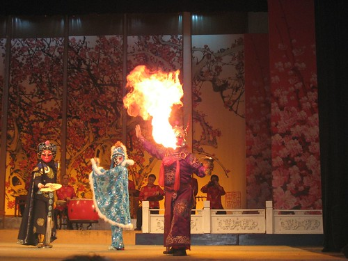 Firebreathing and face-changing at the Sichuan Opera