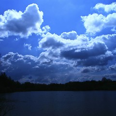 white of clouds (limerickdoyle) Tags: blue ireland sky lake clouds limerick countyclare cratloe efs1785mm canon400d