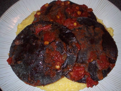 tostadas over cheesy grits