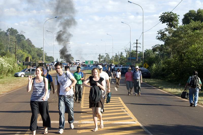Protesters Baracade
