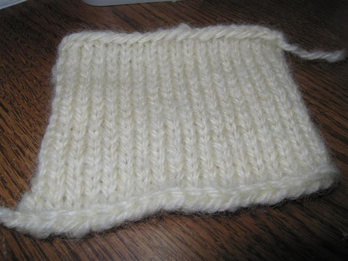 urban aran gauge swatch
