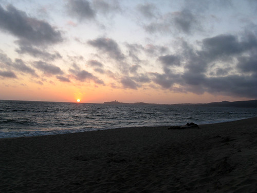 Sunset at Half Moon Bay State Beach