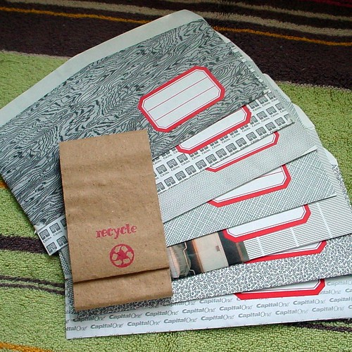 Re-purposed Envelopes by dinnertimechimes.