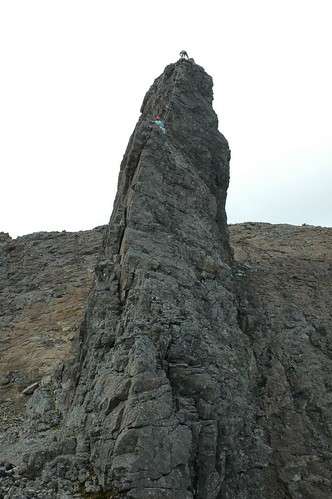 Half way up the Inaccessible pinnacle