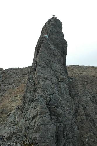 Half way up the Inaccessible pinnacle