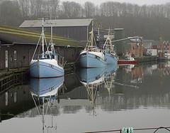 The Habour (cowgirl_dk) Tags: blue denmark olympus fishingboats danmark havn habour bl jutland jylland lemvig e510 20080402 lidenlund fiskerbde fotokonkurrencerdkuge212009 cowgirldk