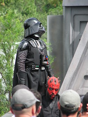 Darth Vader at Disney Star Wars Weekend (FranMoff) Tags: starwars disney disneyworld darth vader waltdisneyworld 2008 themepark starwarsweekends jeditrainingacademy hollywoodstudios