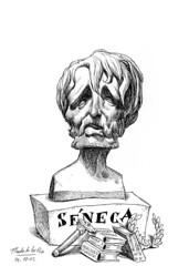 SÉNECA, Lucio Anneo (Morales de los Ríos) Tags: writers caricaturas philosophers caricatures escritores filósofos