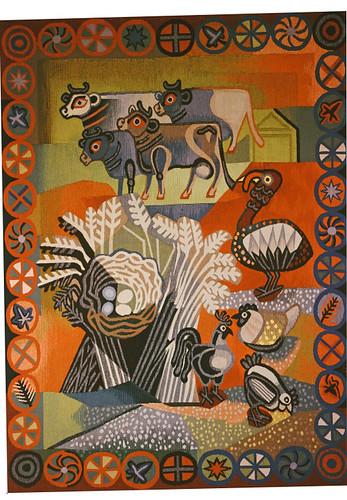 Farmyard (tapestry) 1950 (V+A)