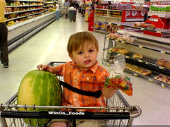 all i need is this watermelon. and these gummi jet airplanes. that's all i need. let's go home. - DSC01283