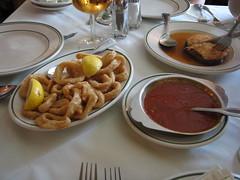 Spanish Tavern: Fried calamari and marinara sauce (yummyinthetummyblog) Tags: newjersey spanish mountainside spanishtavern
