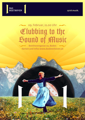 Plakat Clubbing to the Sound of Music