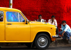 Yellow Car! (sharad_2007) Tags: street red people india colors car yellow wall canon eos interesting delhi pole 50s ambassador interest 1950 sharad khanmarket colorsofindia 40d aplusphoto thebestofday gnneniyisi sharadgupta worldofcars munishkhannaacademy indyah indiaah