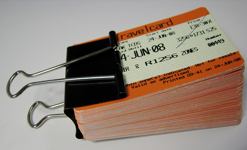 Train tickets and receipts