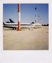 SX-70_AI_06 (Vassilis Makris) Tags: polaroid sx70 airport jet athens greece boeing attiki elliniko savepolaroid